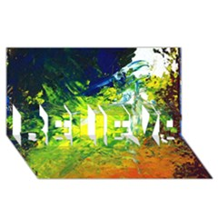 Abstract Landscape BELIEVE 3D Greeting Card (8x4)