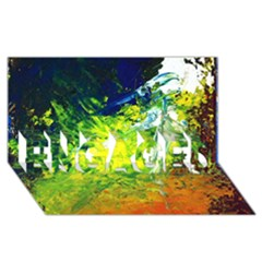 Abstract Landscape ENGAGED 3D Greeting Card (8x4)