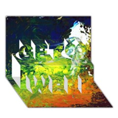 Abstract Landscape Get Well 3D Greeting Card (7x5)
