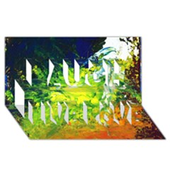 Abstract Landscape Laugh Live Love 3d Greeting Card (8x4)