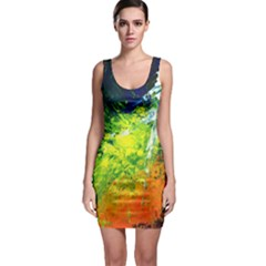 Abstract Landscape Bodycon Dresses