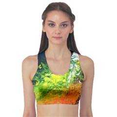 Abstract Landscape Sports Bra