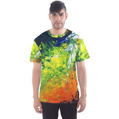 Abstract Landscape Men s Sport Mesh Tees