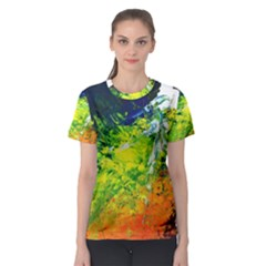 Abstract Landscape Women s Sport Mesh Tees