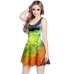 Abstract Landscape Reversible Sleeveless Dresses