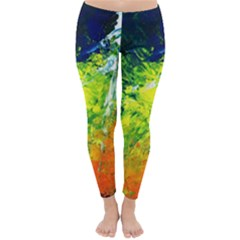 Abstract Landscape Winter Leggings