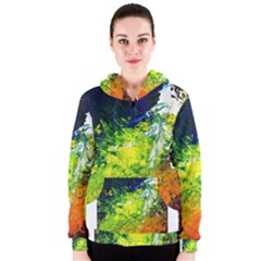 Abstract Landscape Women s Zipper Hoodies