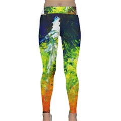 Abstract Landscape Yoga Leggings