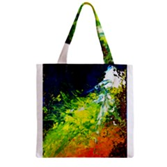Abstract Landscape Zipper Grocery Tote Bags