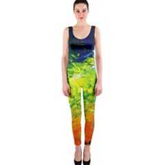 Abstract Landscape OnePiece Catsuits