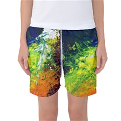 Abstract Landscape Women s Basketball Shorts