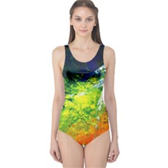 Abstract Landscape Women s One Piece Swimsuits