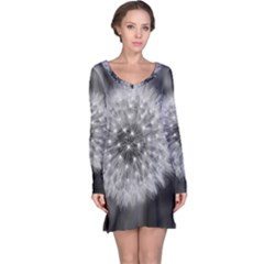 Modern Daffodil Seed Bloom Long Sleeve Nightdresses