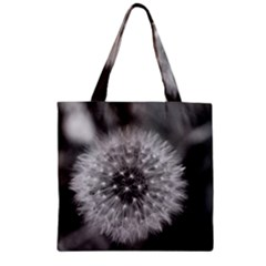 Modern Daffodil Seed Bloom Zipper Grocery Tote Bags