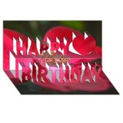Bright Red Rose Happy Birthday 3D Greeting Card (8x4)
