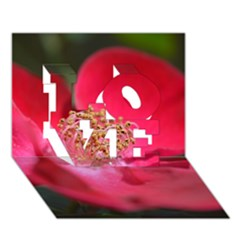 Bright Red Rose LOVE 3D Greeting Card (7x5)