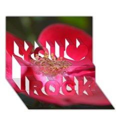 Bright Red Rose You Rock 3D Greeting Card (7x5)