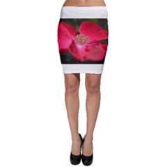 Bright Red Rose Bodycon Skirts