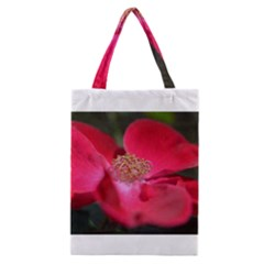Bright Red Rose Classic Tote Bags