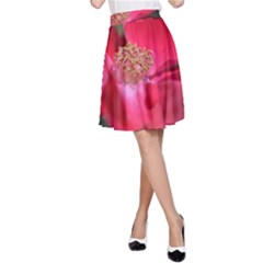 Bright Red Rose A-Line Skirts
