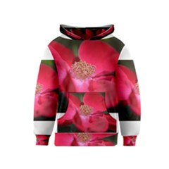 Bright Red Rose Kid s Pullover Hoodies