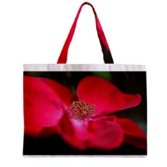 Bright Red Rose Zipper Tiny Tote Bags