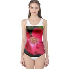 Bright Red Rose Women s One Piece Swimsuits