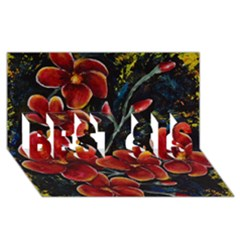 Hawaii Is Calling Best Sis 3d Greeting Card (8x4)