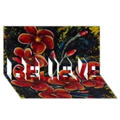 Hawaii is Calling BELIEVE 3D Greeting Card (8x4)