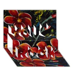 Hawaii Is Calling You Rock 3d Greeting Card (7x5)