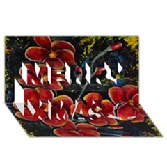 Hawaii is Calling Merry Xmas 3D Greeting Card (8x4)