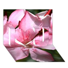 Pink Oleander I Love You 3d Greeting Card (7x5)