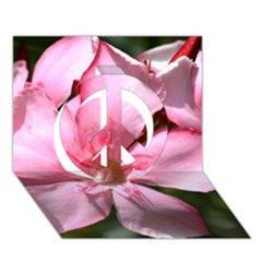 Pink Oleander Peace Sign 3D Greeting Card (7x5)