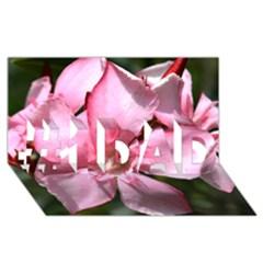 Pink Oleander #1 DAD 3D Greeting Card (8x4)