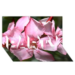 Pink Oleander Party 3d Greeting Card (8x4)