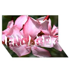 Pink Oleander ENGAGED 3D Greeting Card (8x4)