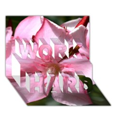 Pink Oleander WORK HARD 3D Greeting Card (7x5)