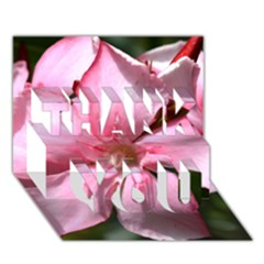 Pink Oleander Thank You 3d Greeting Card (7x5)