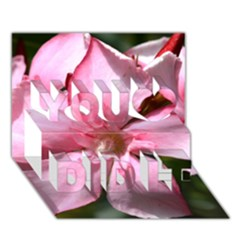 Pink Oleander You Did It 3D Greeting Card (7x5)