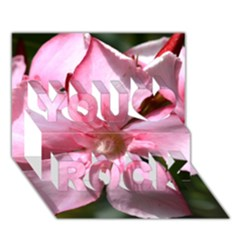 Pink Oleander You Rock 3D Greeting Card (7x5)