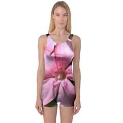 Pink Oleander Women s Boyleg One Piece Swimsuits