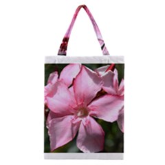 Pink Oleander Classic Tote Bags
