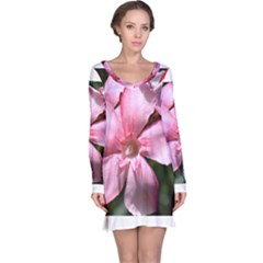 Pink Oleander Long Sleeve Nightdresses