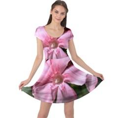 Pink Oleander Cap Sleeve Dresses