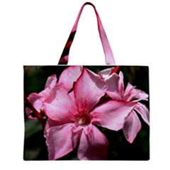 Pink Oleander Zipper Tiny Tote Bags