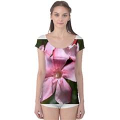 Pink Oleander Short Sleeve Leotard