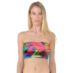 Colorful Floral Abstract Painting Bandeau Top