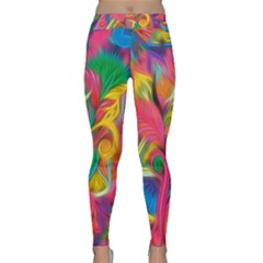 Colorful Floral Abstract Painting Yoga Leggings