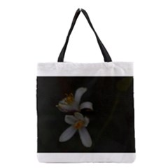Lemon Blossom Grocery Tote Bags
