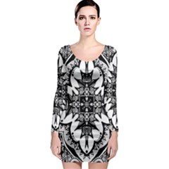 Doodlecross By Kirstenstar D70i5s5 Long Sleeve Bodycon Dresses